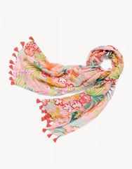 Flamingo Floral Retreat Scarf by Spartina