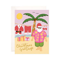 Santa's Vacation Greeting Card