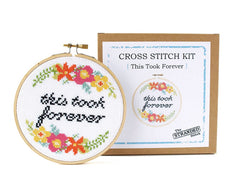 'This Took Forever' Cross Stitch Kit