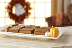 Pumpkin Mini on serving tray by Nora Fleming