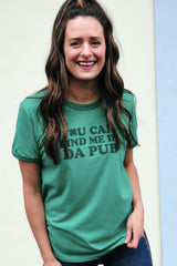 'Find Me In Da Pub' Short Sleeve Ringer Tee
