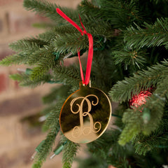 Monogram Personalized Christmas Ornaments