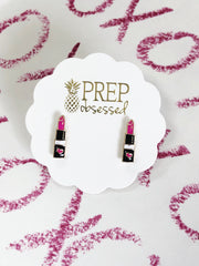 Lipstick Stud Earrings at Prep Obsessed