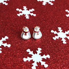 Holiday Cozy Penguin Signature Enamel Stud Earrings