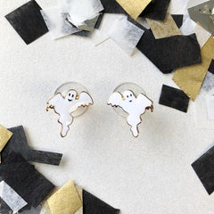 Ghost Signature Enamel Studs by Prep Obsessed