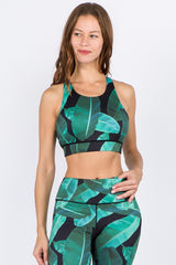 Mel Palm Leaf Sports Bra
