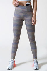 Dark Camouflage High Waisted Workout Leggings