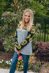 'Sunflowers' Fleece Pullover by Simply Southern