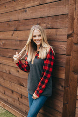 'Buffalo Plaid' Fleece Pullover by Simply Southern