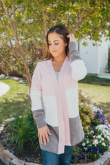 Pink Striped Chenille Cardigan by Simply Southern
