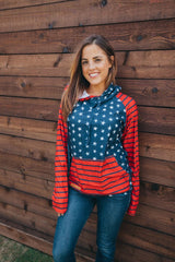 Patriotic Double Hoodie by Simply Southern