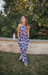Halter Maxi Dress by Simply Southern - Flamingos