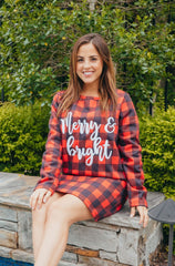 'Merry & Bright' Long Sleeve Warmy by Simply Southern