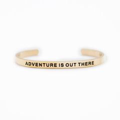 'Adventure is Out There' Cuff Bracelet by Lillian & Co.