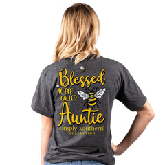 'Blessed To Bee Called Auntie' Short Sleeve by Simply Southern