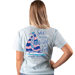 'She Believed She Could So She Did' Sailboat Short Sleeve by Simply Southern