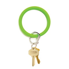 O-Venture Silicone Key Ring - In the Grass Green