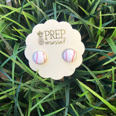 Baseball Signature Enamel Studs by Prep Obsessed