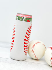 Baseball Printed Slim Can Drink Hugger