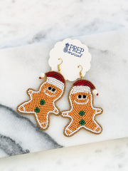 Beaded Gingerbread Statement Earrings
