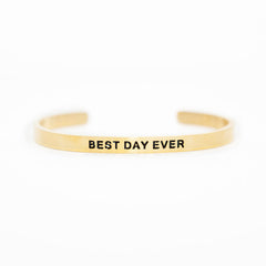 'Best Day Ever' Cuff Bracelet by Lillian & Co.
