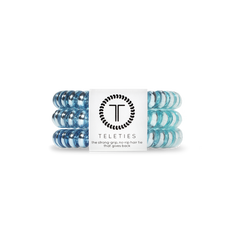 Teleties Hair Tie - Small Band Pack of 3 - Blue Sapphire
