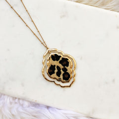 Brandy Leopard Pendant Long Necklace