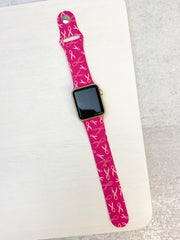 Breast Cancer Ribbon Silicone Smart Watch Band