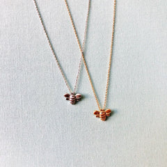 Bria Dainty Bee Necklace - Choice of Color
