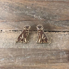 Signature Pet Enamel Studs by Prep Obsessed - Chocolate Lab
