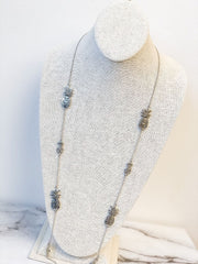 Bryanne Pineapple Station Long Necklace - Silver