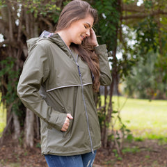New Englander Rain Jacket in Olive by Charles River Apparel (Ships in 1-2 Weeks)
