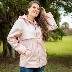 New Englander Rain Jacket by Charles River Apparel (1-2 Week Production Time) - Rose Gold