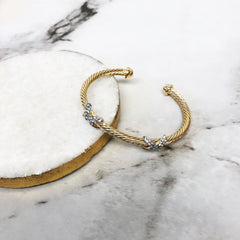 Vivian Crystal Bangle Bracelet