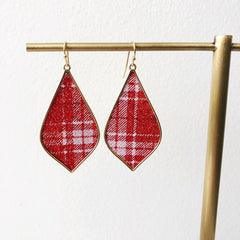 Cami Red Plaid Dangles