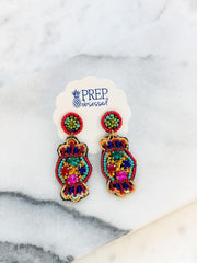 Beaded Candy Statement Earrings