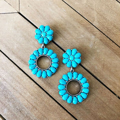 Carly Turquoise Statement Earrings