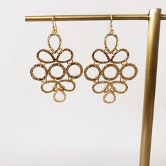 Carmen Statement Earrings - Gold
