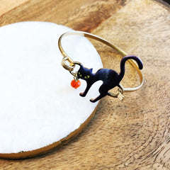 Halloween Black Cat Bracelet
