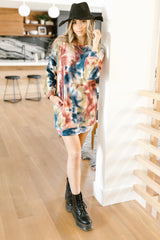 Choices and Colors Tie Dye Tunic/Dress (Ships in 1-2 Weeks) - 11/30