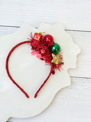 Red Christmas Present Headband