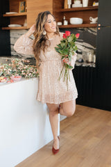 Mia Sequin Dress in Rose Gold - 1/14