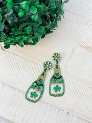 Clover Bottle Dangle Earrings