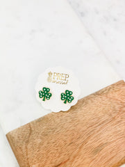Clover Signature Enamel Studs by Prep Obsessed