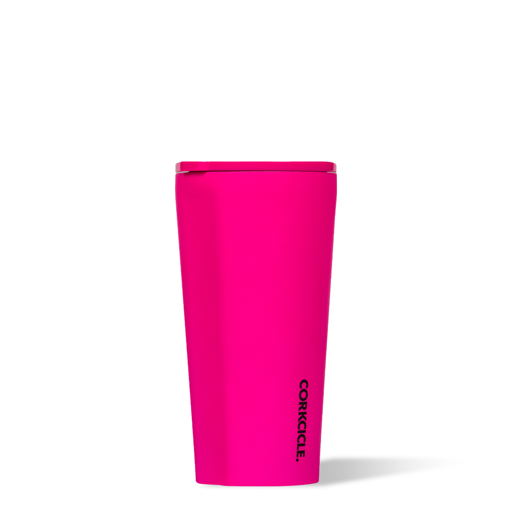 12087e00199 16 oz Stainless Steel Tumbler by Corkcicle - Neon Pink