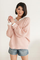 Cozy and Chic Dressed Sweater in Pink - 1/26