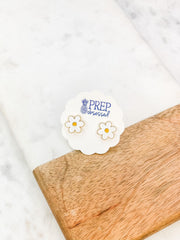 Daisy Signature Enamel Studs by Prep Obsessed