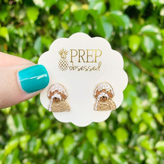 Signature Pet Enamel Studs by Prep Obsessed - Doodle