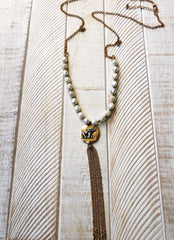 Aisha Pearl Elephant Necklace