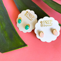 Final Sale: Faceted Gem Pineapple Studs